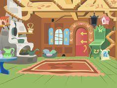 fluttershy cottage mlp deviantart inside cartoon animation pony castle party room interior birthday favourites eq cmc club living vector night