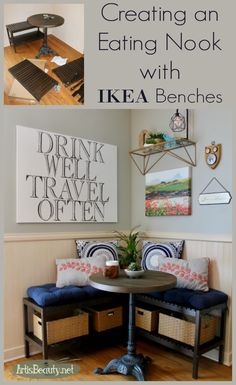 Creating an Eating Nook with IKEA benches