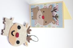 Felt Ornaments and Matching Cards using Lettering Delights http://joyslife.com/felt-ornaments-and-cards-lettering-delights-jingle-hop