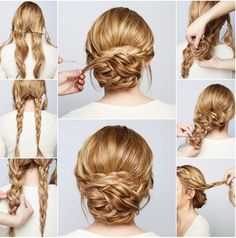 Complete Tutorial for Double Braided Updo Hairstyles for Prom