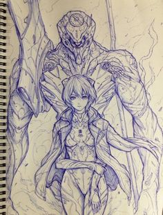 Ayanami Rei and unit 00