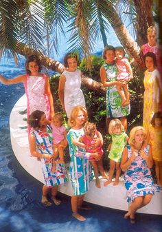 A stylish group in vintage Lilly Pulitzer