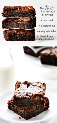 - The BEST brownies, ever. Will make with Splenda sugar blend, or erythritol – yum… The BEST brownies, ever. Will make with Splenda sugar blend, or erythritol – yum! Baking Recipes, Cookie Recipes, Dessert Recipes, Brownie Mix Recipes, Brownies Recipe With Butter, Basic Brownies Recipe, Simple Brownie Recipe, Best Fudgy Brownie Recipe, Baking Desserts
