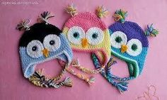 Ravelry: Project Gallery for Crochet Owl Hat (Newborn-Adult) pattern by Sarah Zimmerman Crochet Owl Hat, Crochet Baby, Knit Crochet, Happy Owl, Kids Hats, Crochet Patterns, Crochet Ideas, Knitted Hats, Elsa