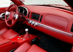 2004 Chevrolet SOCAL SSR Bonneville Salt Flats Custom Center Console, Chevy Ssr, Truck Interior, Us Cars, Red Interiors, Sexy Cars, Custom Cars, Diecast, Chevrolet