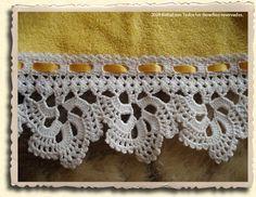 Crochet lace trim for handtowel. Half-wheel motif ~~ EL RINCON DE NIDIA: PUNTILLA PARA TOALLA DE MANO.