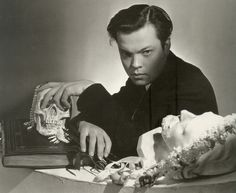 #Orson Welles by #Cecil Beaton. http://chickfactor.com/2013/01/cecil-beaton-scrapbook/orson-by-cb/