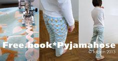 Anleitung: Pyjamahose aus kuscheligem BIO Flanell / Freebook Pyjama Trousers › stoffsalon