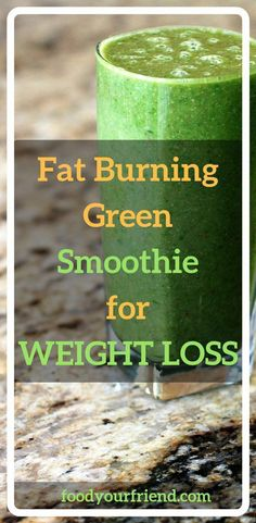 Fat Burning Green Smoothie for Weight Loss. The most effective green smoothie diet includes foods that are rich in iron and those that protect the body from inflammation such as pineapples and avocados. This is the perfect combination for weight loss, hyd Weight Loss Meals, Healthy Recipes For Weight Loss, Weight Loss Drinks, Weight Loss Smoothies, Weight Gain, How To Lose Weight Fast, Healthy Weight, Losing Weight, Healthy Foods