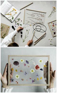 Haz un cuadro con flores secas.