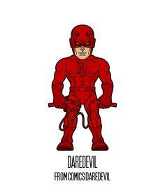 DAREDEVIL  http://herosandvillains.tumblr.com/post/12234725608 by TM
