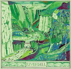 Tolkien's drawing of Rivendell, an Elven outpost in Middle-earth, where Bilbo Baggins stops off in The Hobbit on the way way back to the Shire with Gandalf