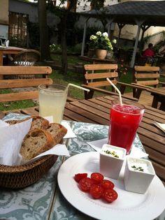 Nice day for a light lunch hidden away in the garden at Styl&Interier Prague, Lunch, Cheese, Dishes, Nice, Garden, Food, Garten, Eat Lunch