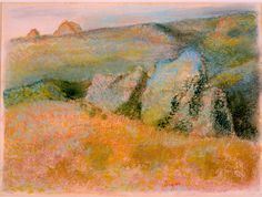 Edgar Degas' 'Landscape with Rocks.' Pastel over monotype, High Museum of Art.