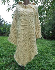 Authentic Very Rare Bulgarian Ethnic hand-woven Poncho 100% pure sheep's wool. #Handmade