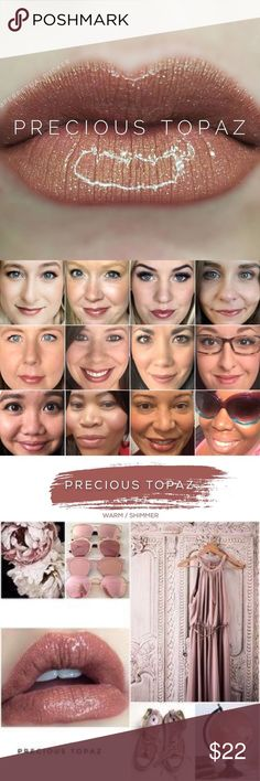 Precious Topaz LipSense LipSense is a patented, amazing departure from conventional lipstick and lip colors. LipSense is versatile in that you can mix shades to create a number of effects. This unique product is waterproof, kiss proof, smudge proof, rub proof, and budge proof! It does not dry out your lips! For first time users, it's recommended to purchase a starter kit (which consists of a glossy gloss, color and remover). I have each in my shop so if you need a starter kit please just…