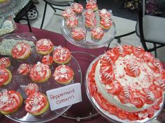 Peppermint Cream cake display by Think Sweet! Cakes by Trisha