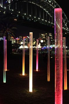 Landscape lighting design - HASSELL lights the way to Walsh Bay for Vivid Sydney Plans Architecture, Landscape Architecture, Architecture Design, Light Architecture, Bühnen Design, Design Light, Urban Design, Urban Furniture, Street Furniture