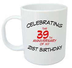 Celebrating 60th Mug - 60th Birthday Gifts / Presents for men, women, gift ideas