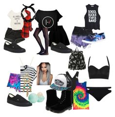 """""""Summer 2k16"""" by little-19-skittle ❤ liked on Polyvore featuring Levi's, Evil Twin, WithChic, Topshop, Rails, Aerie, Vanessa Bruno Athé, High Heels Suicide, Dr. Martens and Vans"""