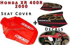 KIT SEAT COVER & TANK DECALS  HONDA XR400R 2000!!! SHIPPING WORLDWIDE #MmCdMotoShop