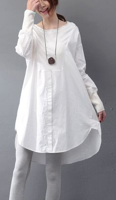 2f6287c2183 Modern white Cotton dresses Fun Shirts o neck patchwork cotton Summer Dress