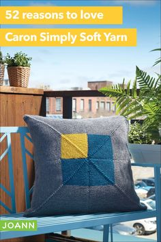 Using Caron Simply Soft yarn will make this pillow a favorite. Soft & stylish, this pillow has it all! Caron Simply Soft, Joanns Fabric And Crafts, Craft Stores, Crochet Projects, Throw Pillows, Blanket, Knitting, Stylish, Search