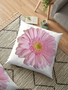 A pretty pale pink gerbera with a light touch of yellow in its center. The transparent background lets the flower speak for itself with no distractions. Throw Pillows Bed, Bed Throws, Floor Pillows, Decorative Throw Pillows, Cushion Covers, Duvet Covers, Pink Gerbera, Floral Cushions, Light Touch