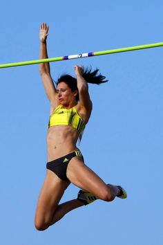 Jenn Suhr.  Another one of my favorite vaulters.