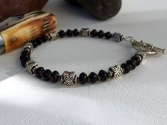 Men's Onyx bracelet $89 [click now to buy] by StefaniFixCollection