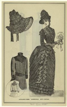 1888 Afternoon Dress and Garden Hat