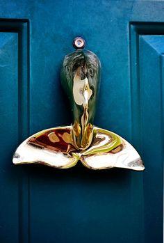 whale tail door knocker. via Cape Cod Collegiate