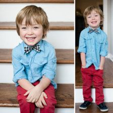 Items similar to Boy's Bow Tie- clip on- light blue Chambray; Boy's Easter outfit on Etsy Little Boy Fashion, Fashion Kids, Baby Boy Cardigan, Polka Dot Party, Girls Easter Dresses, Rainbow Wedding, Boys Bow Ties, Precious Children, Kid Styles
