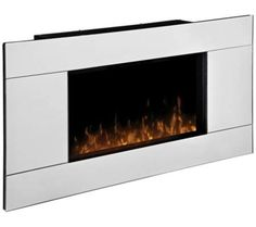Reflections Mirrored Wall-Mount Fireplace | 55DowningStreet.com