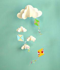 Kite Mobile Baby Mobile Mobile di vivaio appeso carta 3D