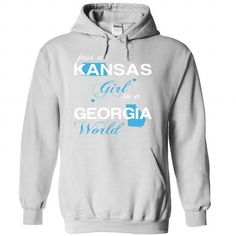 (KSJustXanh001) Just A Kansas Girl In A Georgia World - #tshirt design #sweatshirt quotes. MORE ITEMS => https://www.sunfrog.com/Valentines/-28KSJustXanh001-29-Just-A-Kansas-Girl-In-A-Georgia-World-White-Hoodie.html?68278