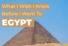 If you're thinking about going to Egypt on vacation, here are 18 things you should know before you land. From tipping to hotels to tours and more, make sure you're informed before you go. Pyramids Egypt, Cairo Egypt, Egypt Art, Egypt Crafts, Egypt Design, Egypt Tattoo, Egypt Culture, Egypt Fashion, Alexandria Egypt