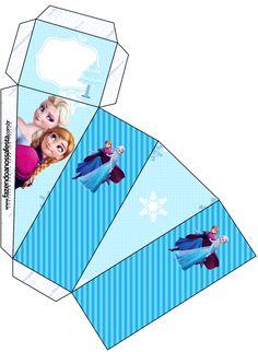 Caixa Fatia Frozen Azul