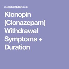 groupon on klonopin withdrawal treatment