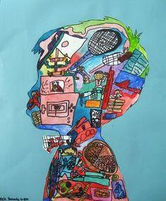 Drawing Portraits - Thème de lidentité et arts visuels Discover The Secrets Of Drawing Realistic Pencil Portraits.Let Me Show You How You Too Can Draw Realistic Pencil Portraits With My Truly Step-by-Step Guide. Middle School Art, Art School, Arte Elemental, Collage Kunst, Self Portrait Art, Portrait Ideas, Portraits For Kids, Portrait Inspiration, Classe D'art