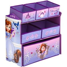 Disney Junior Sofia the First Multi-Bin Organizer by Delta Children Sofia The First Room, Toys For Girls, Kids Toys, Disney Furniture, Toddler Furniture, Playroom Furniture, Furniture Decor, Delta Children, Disney Junior