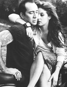 Nicolas Cage and Lisa Marie Presley by Annie Leibovitz.