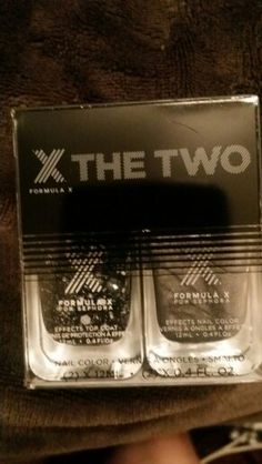 Formula X nail polish * each one is .4 oz full size* ( brand new )-hypnotiza and chaotic .... speckled black and white, silver