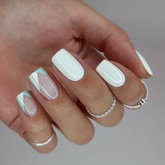 Classy Nails, Stylish Nails, Simple Nails, Trendy Nails, Bright Nail Designs, Square Nail Designs, Nail Art Designs, Bright Nails, Formal Nails
