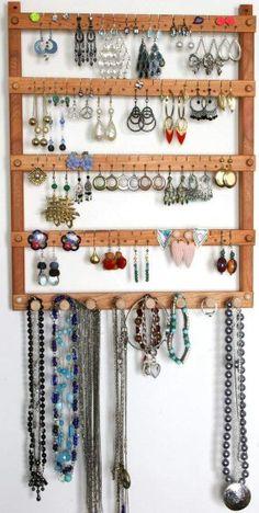 Window frame jewelry display.