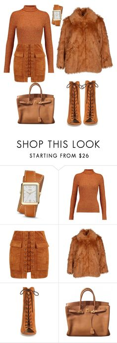 """""""Untitled #169"""" by rexhepnuhiji ❤ liked on Polyvore featuring FOSSIL, Just Cavalli, WithChic, Cheap Monday, Kristin Cavallari and Hermès"""