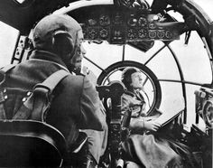 "waffenss1972: "" Pilots in the cockpit of a German bomber Heinkel He-111 """