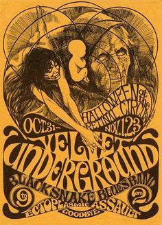 60's concert handbill