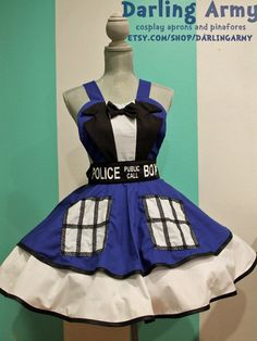 TARDIS Suit -Doctor Who- Cosplay Pinafore by *DarlingArmy on deviantART