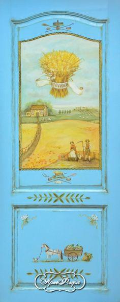 """Дверь """"Прованс Пшеница голубая"""" http://www.artflera.ru/image/tid/3"""